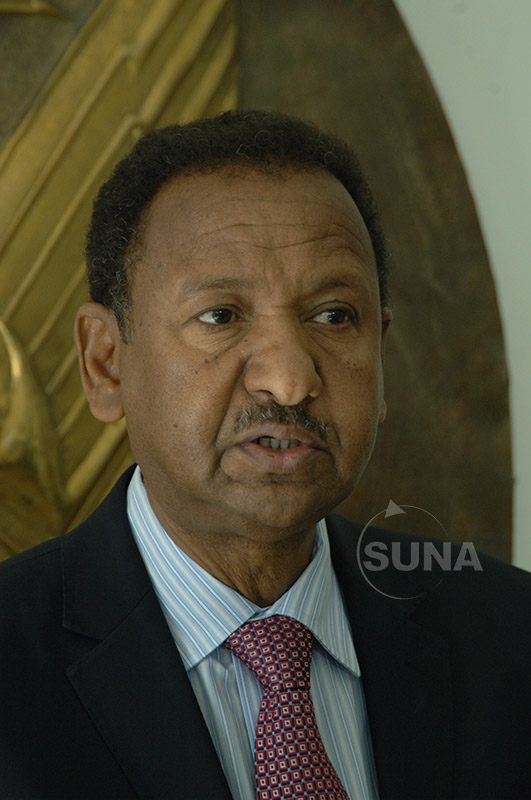 Dr Mustafa  meets AU Commissioner for Infrastructures and Tourism