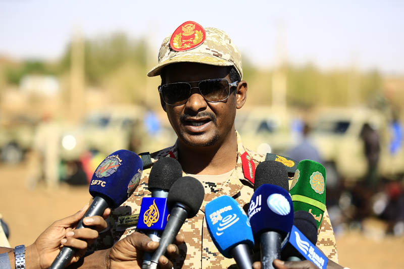 RSF Commander  says  RSF  exist  in Kassala  State to  secure  and protect  the Country