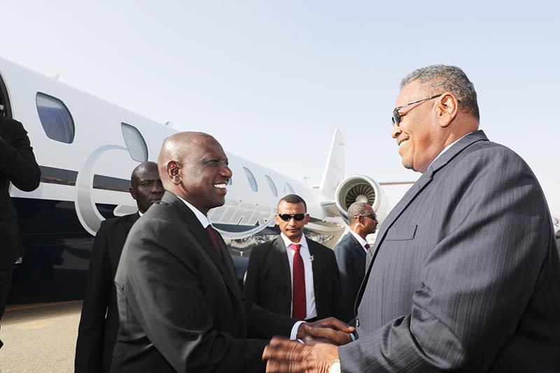 Kenyan Vice - President Arrives in Khartoum